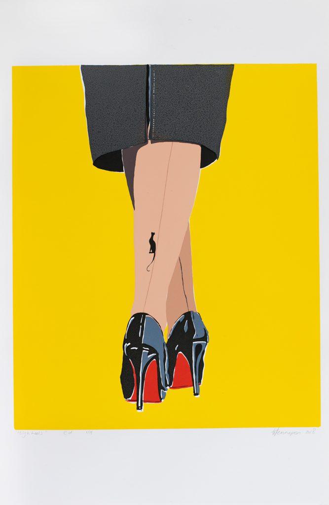 High Heels  2018 8 kleurendruk - opl. 9 (afb. 37 x 30 cm)