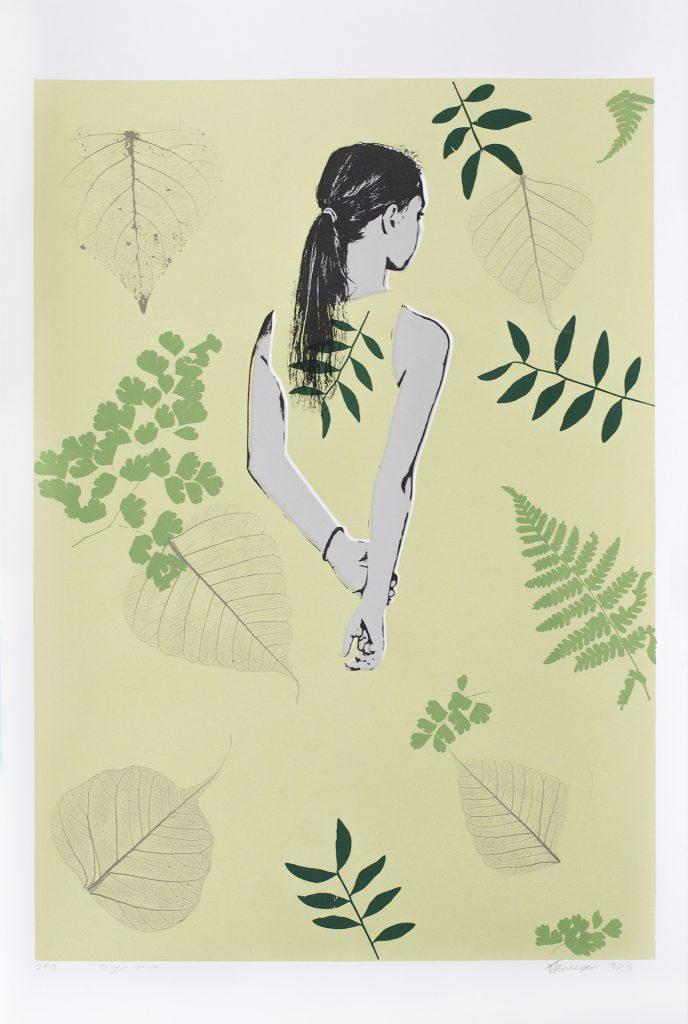 Groen  2017 6 kleurendruk - opl. 10  ( afb. 42 x 30 cm)