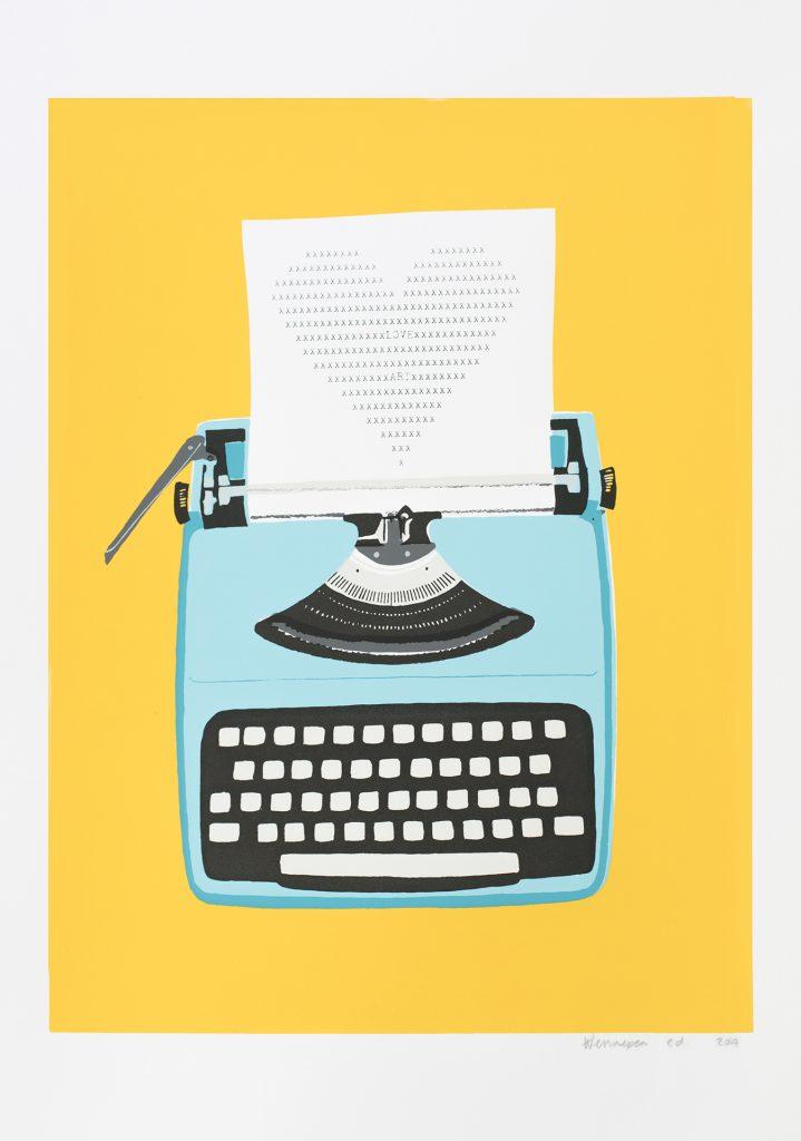 Typemachine  2017 6 kleurendruk - opl. 10 (afb. 42,5 x 31 cm)