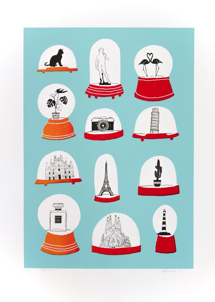 Souvenirs   2015 4 kleurendruk - opl. 10 (afb. 43 x 29 cm)