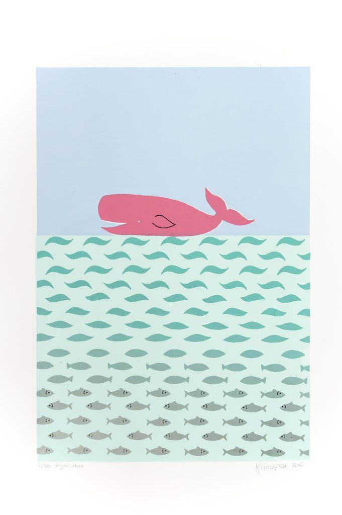 Walvis  2015 6 kleurendruk - opl. 10 (afb. 36 x 25 cm)