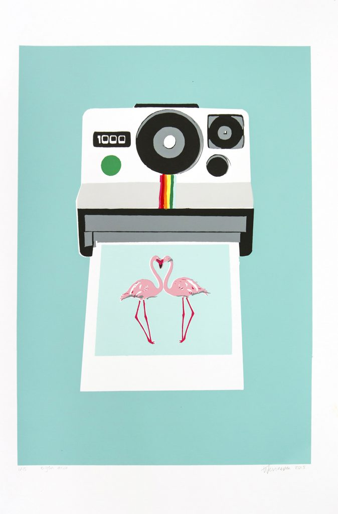 Polaroid  2015 13 kleurendruk - opl.14 (afb. 39 x 28 cm)