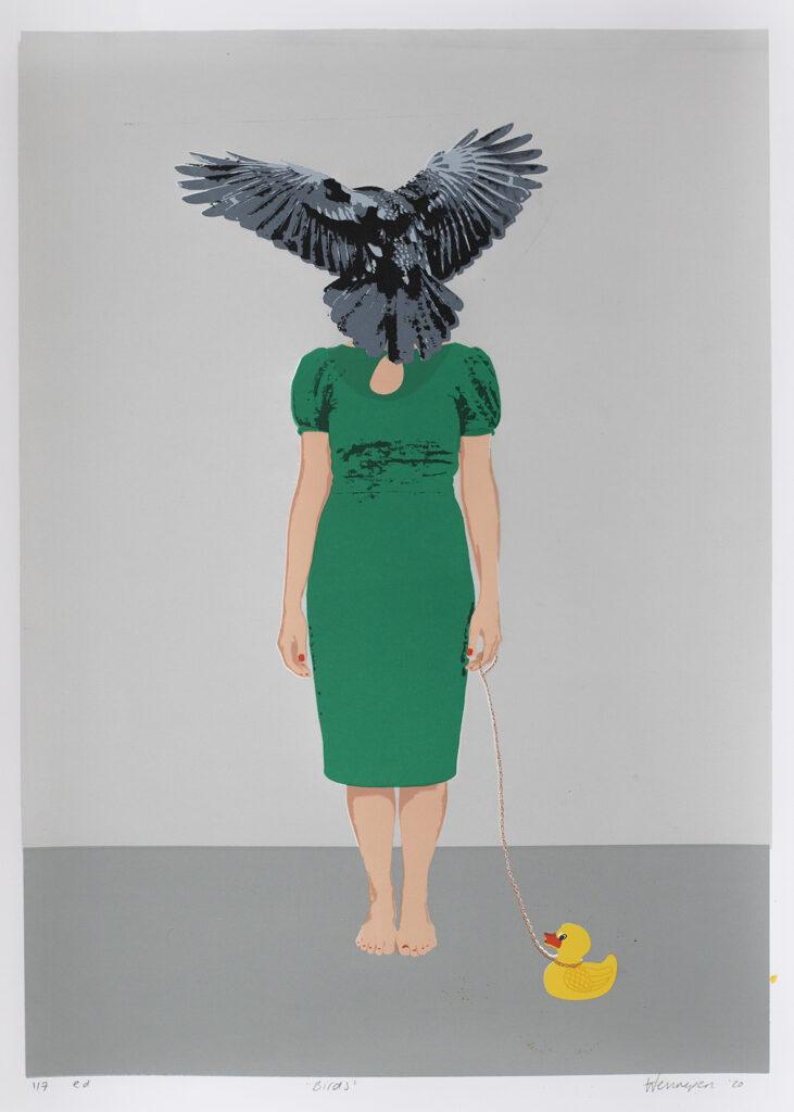 Birds 2020 15 kleurendruk- opl. 7 (afb 28 x 39 cm) € 125